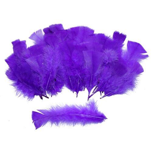 50x LILA DEKO FEDERN # Violette Bastelfedern Dekofedern Feder Bastel Party 0508