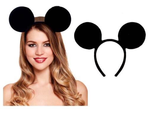 UK MICKEY MOUSE EARS HEADBAND Fancy Dress Disney Spotted Ladies Kids Boys Girls