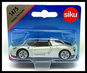Siku-1475-Porsche-918-Spyder-tamano-de-aproximadamente-1-64-automovil-de-fundicion-Regalo