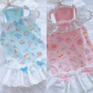 Pet-Dog-Clothes-Cute-Bear-Camisole-Small-Dogs-Cat-Summer-Cartoon-Printed-Skirt