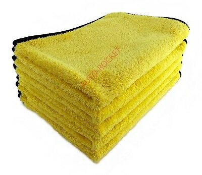 5 x Ultimate Super Soft MICROFIBRE drying, polishing, buffing cloths ***550GSM**