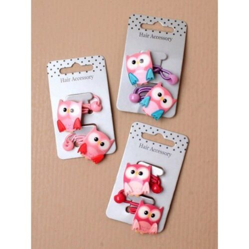 p prizes,favours,gifts pack of 3 x Owl motive hair bobbles for party bag