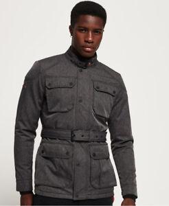 New-Mens-Superdry-Premium-Four-Pocket-Field-Jacket-Heather-Grey-Herringbone