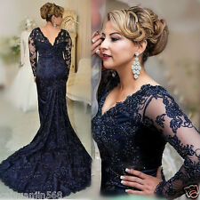 New Royal Blue Evening Dress Mermaid Lace Appliqued Mother Of The Bride Dresses
