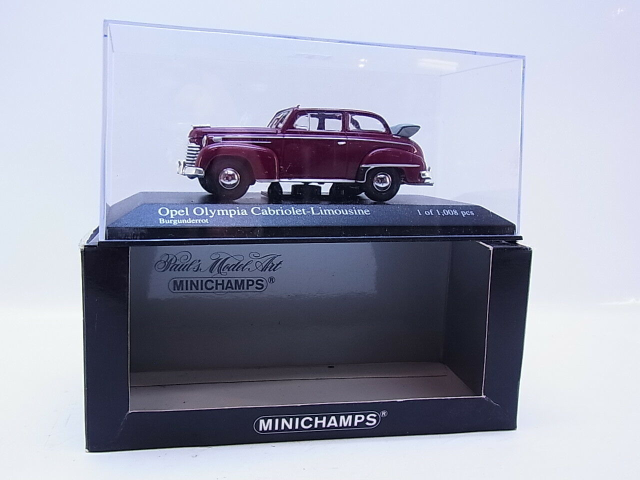 LOT 48129   Minichamps Opel Olympia Cabriolet-Limousine Modellauto red 1 43 OVP