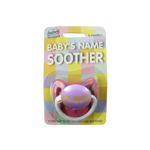 multi listing Soother//Pacifier Baby Girls Name Personalised Dummy names M-Z