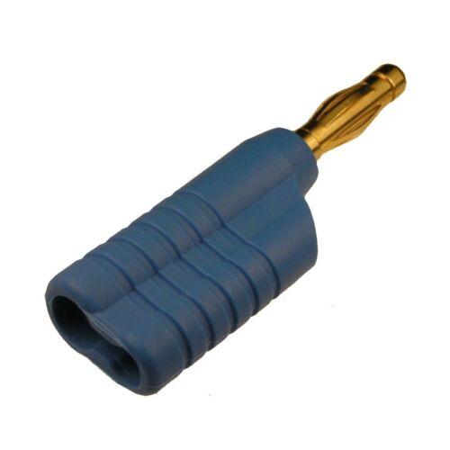 Schnepp Federkorbstecker FK4041 L Au Bananenstecker 4mm vergoldet blau 853644