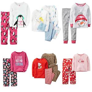 28186afd8 NWT Carters Infant Girl Pajamas 2-pc   4-pc sets Fleece Cotton ...