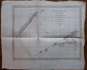 Adaptable Voyage De Cook - Circa 1780 - Nvelle Calédonie Et Environs- Gravure Originale