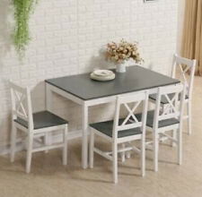 4 Seater Dining Table And Chairs Kitchen Breakfast Room Furniture Set Wooden