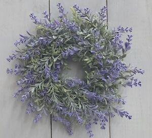 Lavendelkranz-KRANZ-Lavendel-lila-gruen-ca-D-25-cm-Kerzenkranz-a-z-Aufhaengen