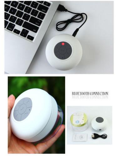 Waterproof Bluetooth Wireless Speaker Handsfree Music Mic Suction Car Shower