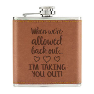 Quand-We-039-Re-Allowed-Back-Out-Je-Suis-Taking-You-Sortie-170ml-Cuir-PU-Hip-Flask
