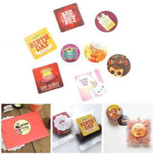 38X-Happy-Birthday-Paper-Stickers-Romantic-Love-For-Diary-Decor-Scrapbooking-R