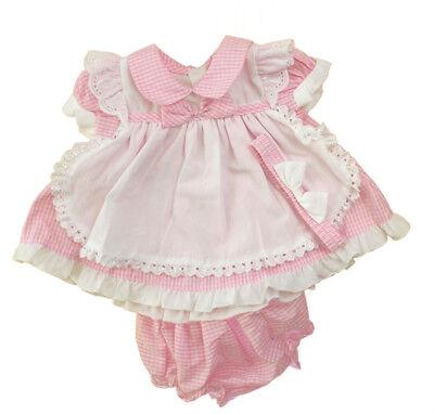 Headband /& Knickers 0-24 month Blue Stripe Pinny Dress SALE Baby Girls Pink