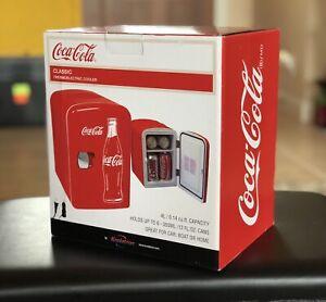 Coca-Cola-Portable-6-Can-Mini-Fridge-AC-DC-Cords-Included-Coke-New-Cool