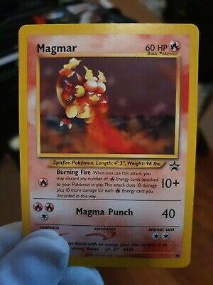 NM Pokemon MAGMAR Card BLACK STAR PROMO Set #44 Wizards of the Coast League TCG