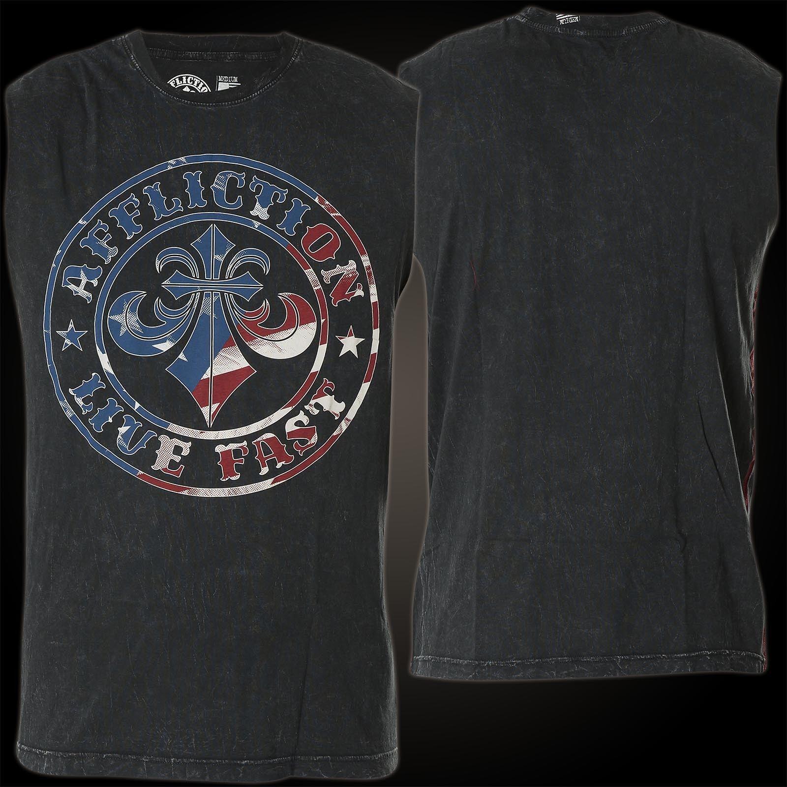 AFFLICTION T-Shirt Patriot Muscle Tee Schwarz Herren  Tank