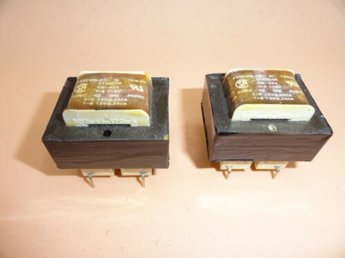 STANCOR SW-424 POWER TRANSFORMER PRI 115V SEC 12V//,250A X 2 50//60HZ LOT OF 2
