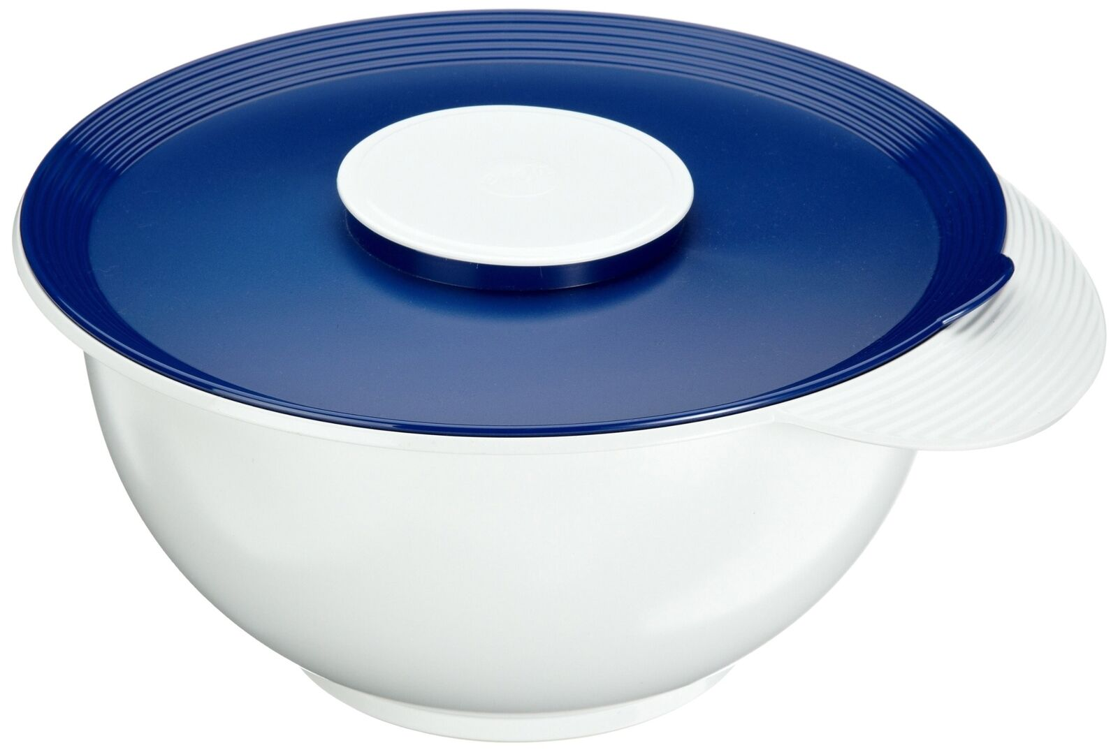 Emsa 2154451200 Superline mixing bowl with lid, 4.5 litres, white bluee