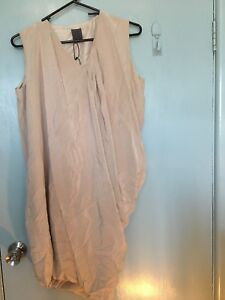 Calvin-Klein-beige-silk-dress-new-with-tags-in-size-2