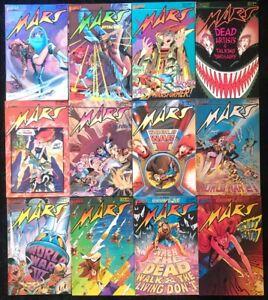 VINTAGE-Mars-1-12-COMPLETE-SERIES-SET-First-Comics-1984-Sci-Fi-Wheatley-Hempel