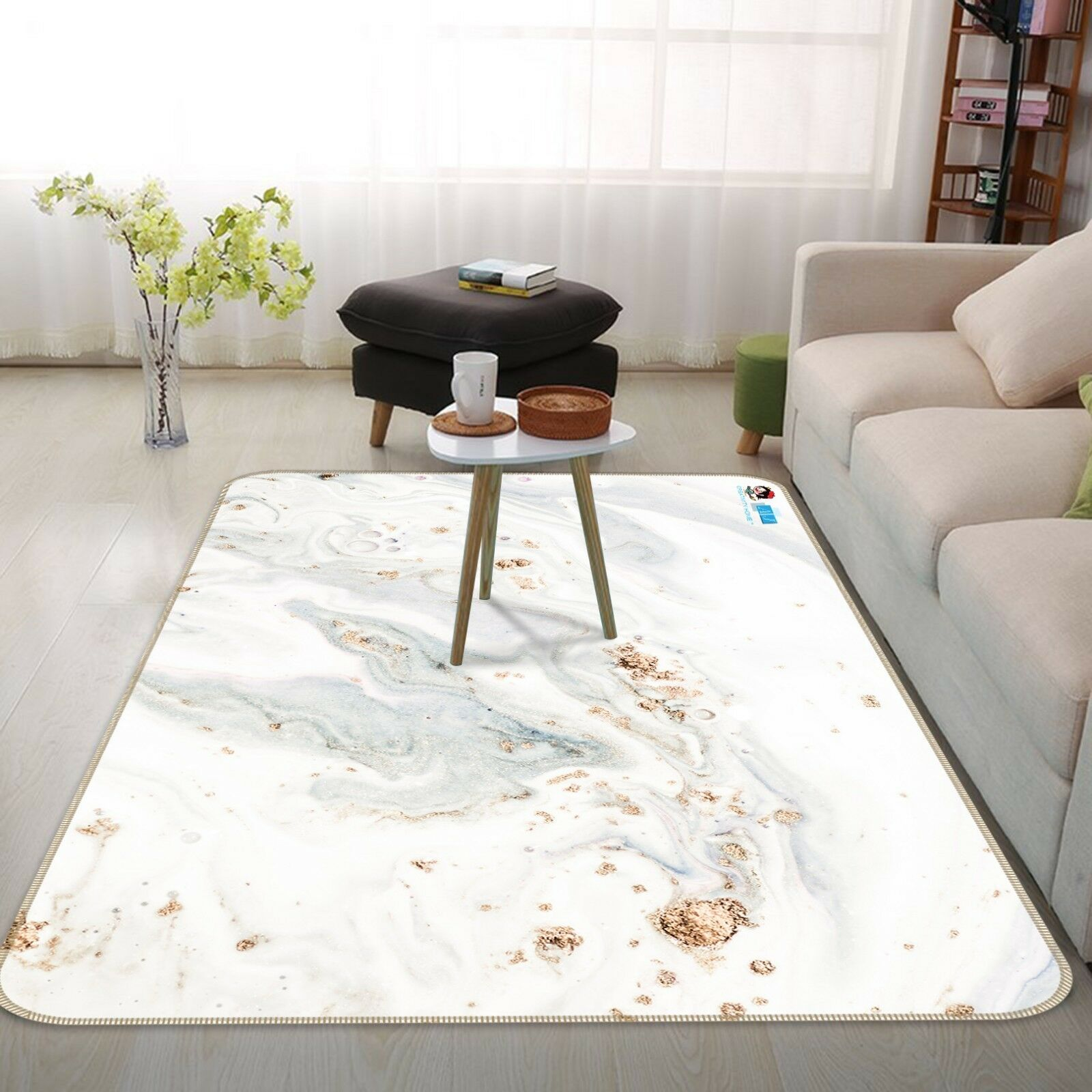 3D Stone bianca Texture 4 Non Slip Rug Mat Room Mat Quality Elegant Photo Carpet