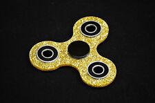 Fidget Spinner - HIGH SPEED Gold Glitter Ceramic Bearing