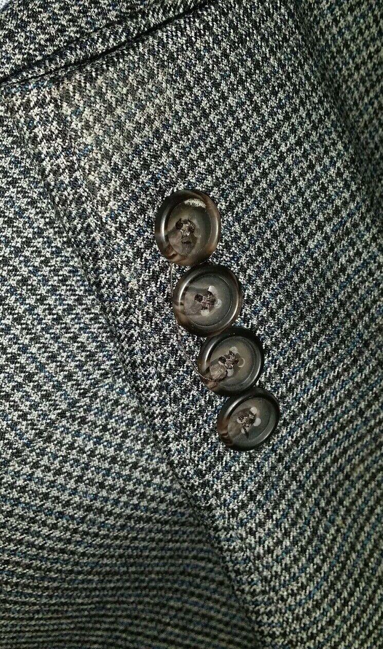 Neu 48R Ralph Lauren Blau Grau Hundezahn Karomuster Tweed-Blazer Sport   | Ich kann es nicht ablegen  | Innovation  | Haltbarkeit