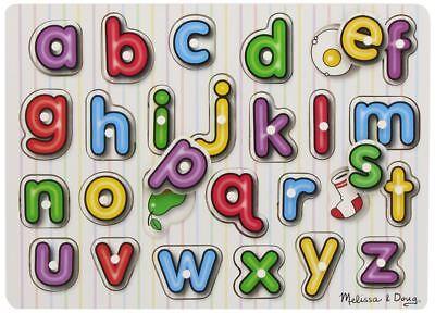 Di Carattere Dolce Melissa & Doug Vedere All'interno Di Legno Peg Puzzle/jigsaw Alfabeto Bambino Giocattolo/regalo Bn-mostra Il Titolo Originale Volume Grande