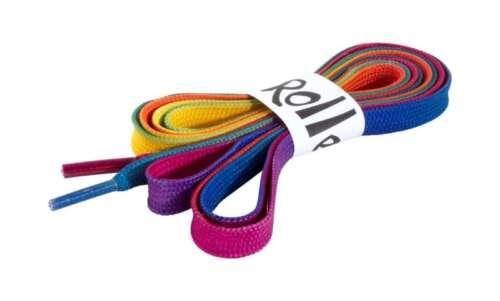 180cm- Rio Roller Skate Zubehör Regenbogen Schnürsenkel Rio Roller