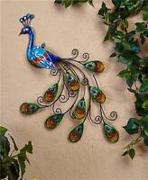 Beautiful Peacock Wall Art Hanging Ready To Hang Indoor Outdoor Home Decor