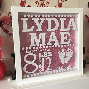 Personalised baby birth frame decal vinyl sticker for box frame image is loading personalised baby birth frame decal vinyl sticker for negle Choice Image