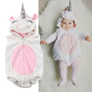 Cute-3D-Unicorn-Baby-Kids-Girl-Romper-Jumpsuit-Outfits-Costume-One-pieces-Hooded