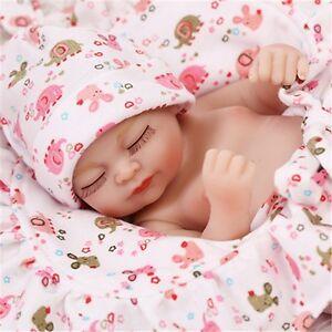 11-034-Lifelike-Reborn-Sleeping-Girl-Doll-Full-Silicone-Vinyl-Mini-Baby-Handmade-us