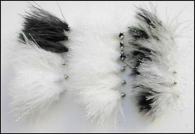 18 Cats Whisker Trout Fishing Flies,Cruella,Blacks Goldheads Etc Size 10