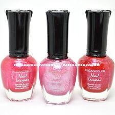 3 Kleancolor Nail Polish Shimmer Pink Fairy Glamour Diva Hot Set Lacquer 3SET55