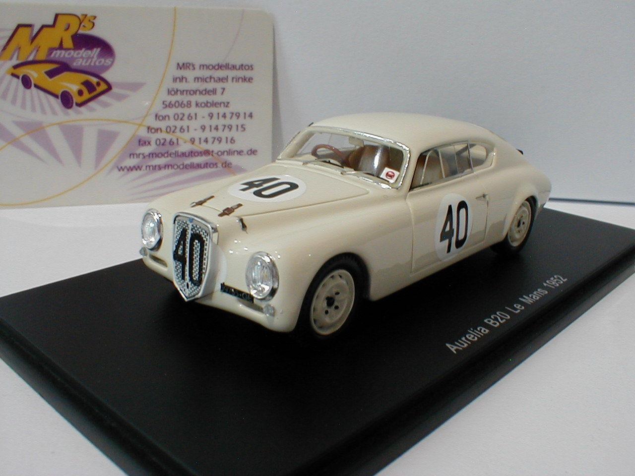 Spark s4392-Lancia Aurelia b20 No. 40 24h Lemans 1952 Bonetto, júnior 1 43