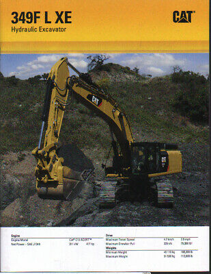 "Devoted Caterpillar ""349f L Xe"" Tracked Hydraulic Excavator Brochure Leaflet 2019 Latest Style Online Sale 50% Other Tractor Publications"