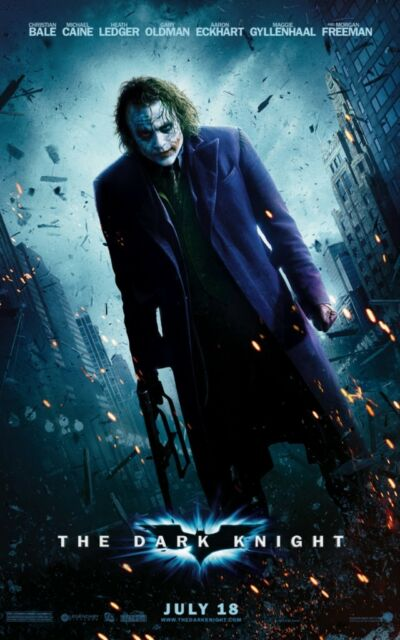 The Dark Knight Movie Poster 8x10 11x17 16x20 24x36 27x40 Batman Joker Bale D