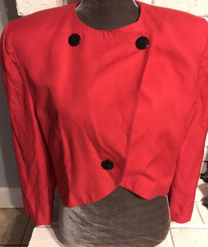 Vintage Christain Dior Hot Pink Blazer Size 14