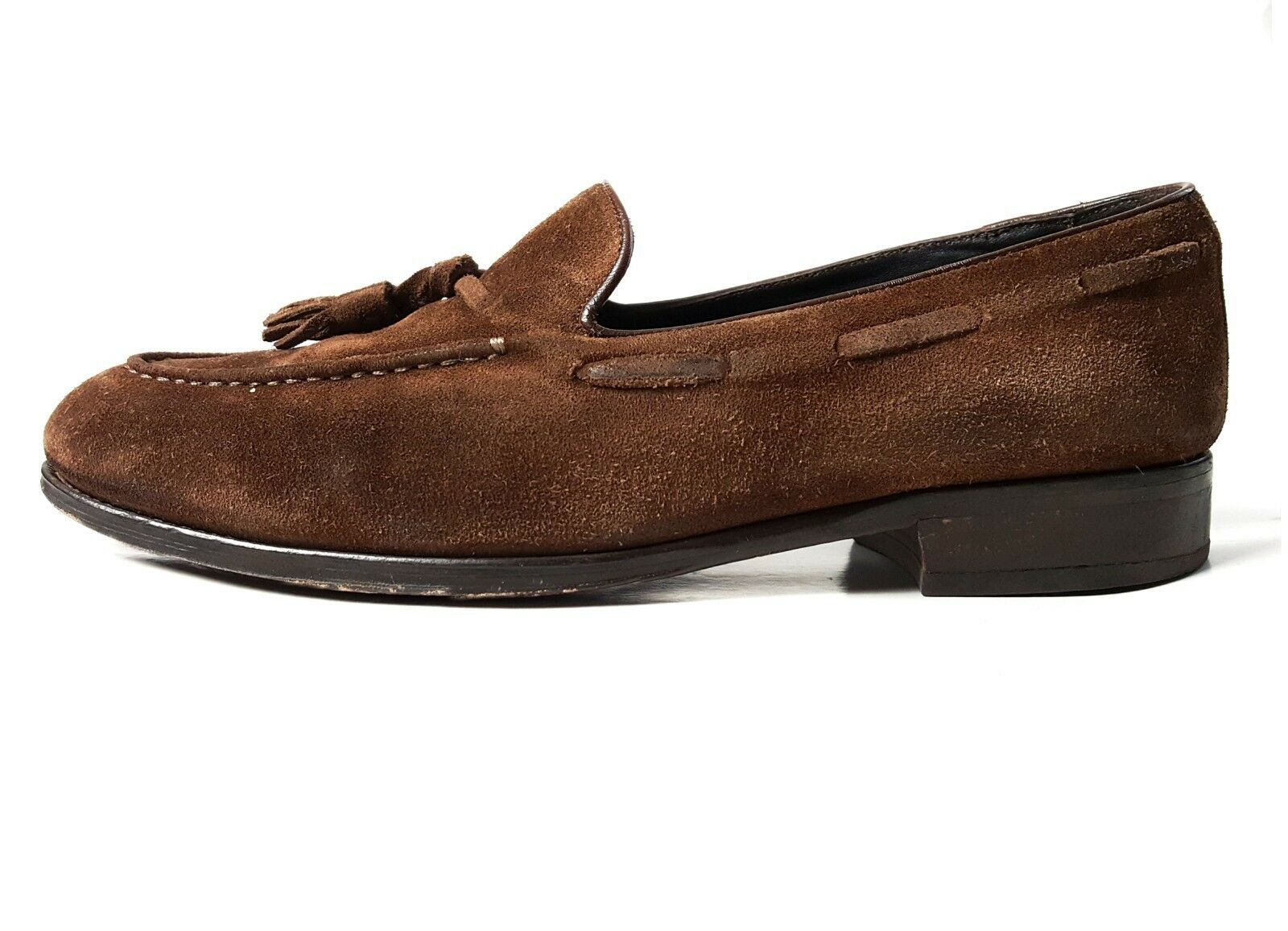 SUITSUPPLY 9 US Leather Brown Tassel Loafers MADE IN ITALY