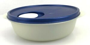 TUPPERWARE-Crystal-Wave-Divided-Round-lunch-and-dish-with-cold-cup-w-vented-Lid