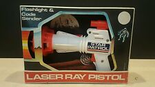 Vintage Star Patrol Laser Ray Space Gun Flashlight Code Sender Tim Mee Toys USA