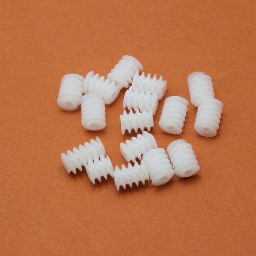 10PCS 6*8mm Plastic Worm Plastic Gear Aperture 2mm For DIY Model accessories