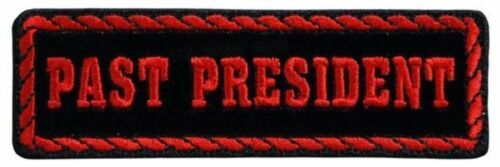 Black And Red Past President Rider Motorcycle Uniform Patch Biker