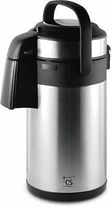 Koch-3-L-Thermo-Pumpkanne-Edelstahlkanne-Pump-Isolierkanne-Edelstahl-Kaffeekanne
