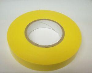 2 Rolls Non Adhesive Dry Vinyl Tape Yellow 1 Inch X 250 Ft