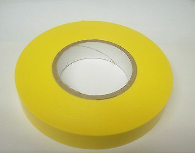 Heat Resistant 2 Rolls Non-Adhesive Dry Vinyl Tape Yellow 1 inch x 250 ft