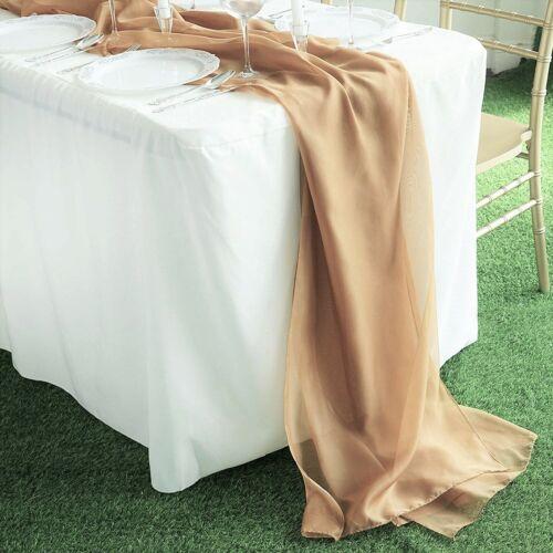 "New Creations Fabric /& Foam Inc Chiffon Table Runner 18/"" x 180/"" Extra Long"